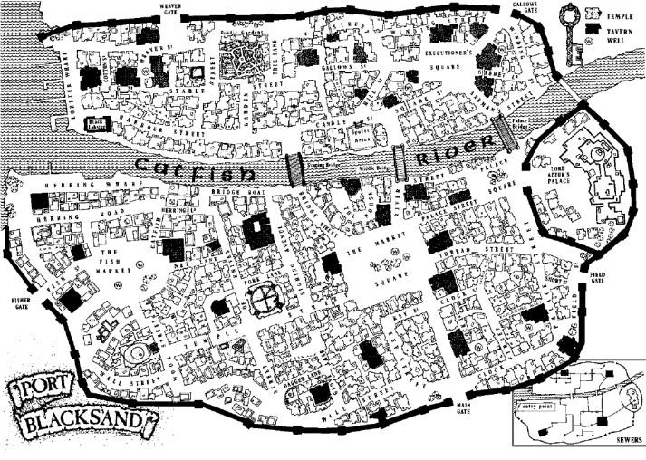 Mappa della temibile Blacksand
