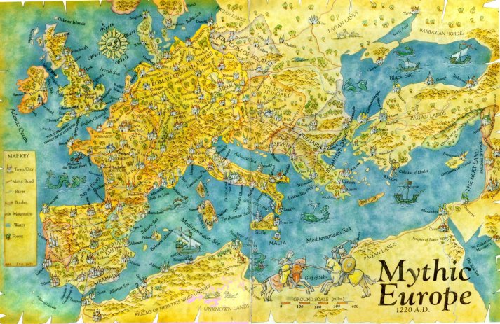 L'Europa Mitica di Ars Magica