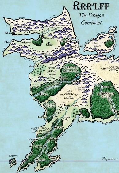 """La parte occidentale del """"Mondo Cane"""", dove sono ambientate gran parte delle avventure scritte da Ken St Andrè"""
