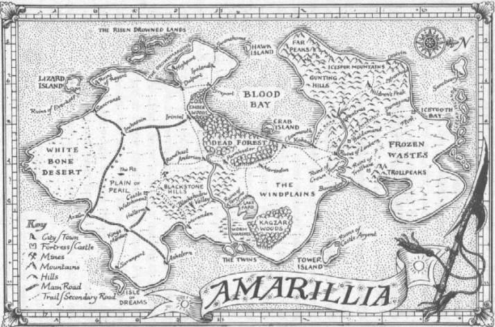 ...e se per finire volete giocare qualcosa su Amarillia, ecco pure una mappa del luogo