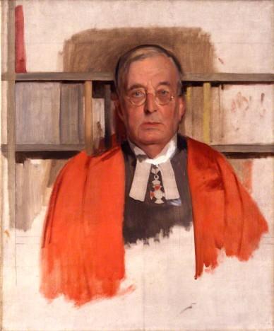 NPG 5285; Montague Rhodes James by Sir Gerald Kelly